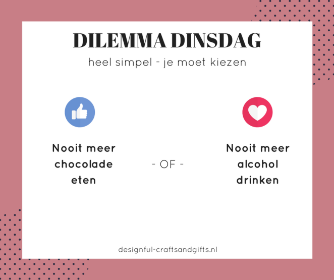 Dilemma dinsdag Facebook